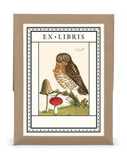 Cavallini & Co. Owl Ex Libris Bookplate Set