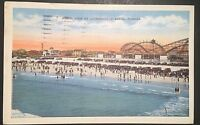 Aerial View of Jacksonville Beach Florida  Vintage Postcard 1935 Postmark D117