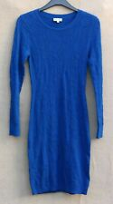 REISS Ladies Royal Blue Crochet Knitted Long Sleeve Knee Length Dress Size Small
