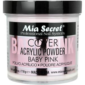 Mia Secret Cover Acrylic Powder Almond Baby Cool Pink Natural Golden Peach 4 oz