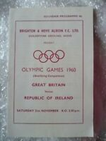 1960 GREAT BRITAIN v REPUBLIC OF IRELAND Olympic Games Qualifying Match, 21 Nov
