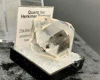 18.47 g Light Smoky Herkimer Diamond Gem, Brilliant Clarity, Double Terminated!