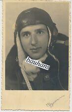 Portrait-Foto Luftwaffe Pilot-Flieger-Fliegerkopfhaube-Tuch-Fliegeroverall(u364)