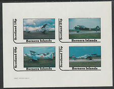 GB Locals - Bernera 2871 - AIRCRAFT - BI-PLANES imperf sheetlet unmounted