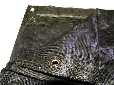 Mesh Tarp Black 10' x 10' 70% Shade Value Heavy Duty Materials