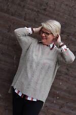 Damen Pullover Amy Vermont leicht beige 3/4 Arm verläng Rück Gr 46 48 Neu 701