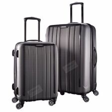 "2Pc Samsonite ExoFrame Grey Polycarbonate Spinner Suitcase Luggage Set 20""/28"""