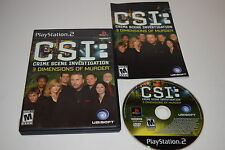CSI Crime Scene Investigation 3 Dimensions Murder Playstation 2 Game Complete
