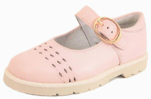 DE OSU-FARO  - Girls' Pink Leather Dress Mary Janes - Shoes European 24 Size 7