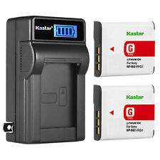 Kasta Battery + Charger For Sony NP-BG1 FG1 Cyber-Shot DSC-T100/20 N1/2 W30/300