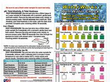 Well Water Test Kit, 2 Tests for pH, Alk, Nitrates, Nitrites, Iron, and Hardness