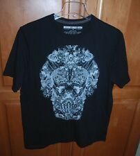 NEW Sean John Men's Black Skull Graphic T-Shirt Tee Medium