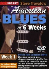 LICK LIBRARY Steve Trovatos AMERICAN BLUES GUITAR in 6 Weeks Learn to Play DVD 1