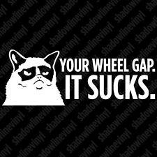 GRUMPY CAT WHEEL GAP SUCKS Decal Sticker JDM Honda VW Stance Static Hellaflush