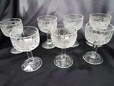 Lot of 7 IRIS AND HERRINGBONE  LIQUOR COCKTAIL 4 OZ -JEANNETTE GLASS DEPRESSION
