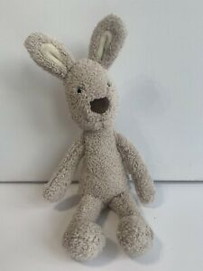"""Jellycat Brown Beatrice Bunny Rabbit Soft Toy Comforter Baby 10"""" Jelly Cat"""