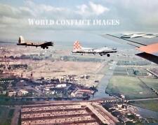 USAAF WW2 B-17 Bombers Food Drop Holland 8x10 Color Photo 385th BG WWII