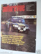 AUTOREVUE 1977-10,VW SCIROCCO GTI,26E TULPENRALLYE,FIAT 127,GP SPAIN F1,ANDRETTI