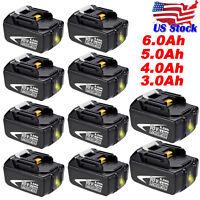 6AH Battery for makita 18V LXT BL1830 BL1860 BL1850 BL1840 BL1830 BL1815 Lithium