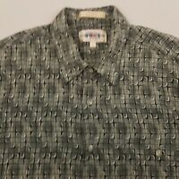 Campia Moda Men's Hawaiian Shirt Short Sleeve Size Large Rayon Green