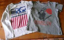 2 T-shirts garçon, Okaïdi/Tape à l'oeil, manches longues/courtes, 128 cm, 8 ans