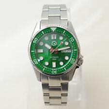 Islander Watch ISL-21 38mm Automatic Dive Watch, Green Dial, Green Bezel