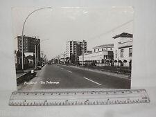 Vecchia cartolina foto d epoca di Brugherio Via Imbersago strada palazzi case
