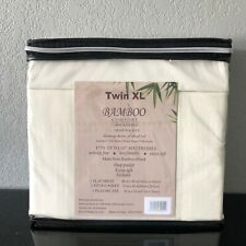 Bamboo Blend Comfort 1800 Series Luxury Sheet Set (3Pc) TwinXL Ivory Deep Pocket