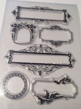 Clear Stamp Set - Fancy Frames: Boarders Frames Labels -approx. 110mm x 160mm