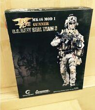 1:6 CRAZY DUMMY 78001 US NAVY SEAL TEAM 3 MK46 MOD 1 GUNNER FIGURE
