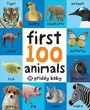 Roger Priddy First 100 Animals, Board Book Fun Learn Simple, Kid Baby Child Gift