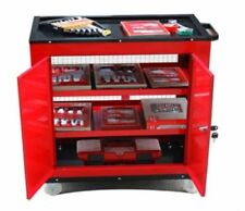 Large Lockable Toolbox Cabinet Tool Trolley Workbench Stainless Steel Castors