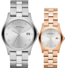 NEW MARC JACOBS HENRY HIS & HERS SILVER,ROSE GOLD BRACELET WATCH SET MBM942