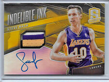 2013-14 SPECTRA STEVE NASH INDELIBLE INK GOLD REFRACTOR AUTO 3CL SICK PATCH 4/10