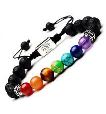 Bracelet Harmonisation 7 Chakras et pierre de lave - Symbole Arbre de vie