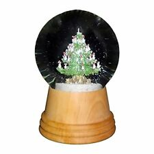 "Perzy Decorative Snowglobe, Medium Christmas Tree w/ Wooden Base, 5""x3""x3"""