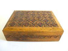 Schöne Ältere Holz Schatulle Kiste Kästchen