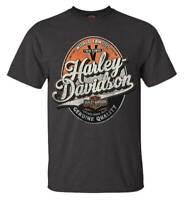 Harley-Davidson Men's Bootleg Distressed Short Sleeve T-Shirt - Tar Gray