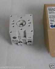 ALLEN-BRADLEY SAFETY ON OFF SWITCH 600V 12A 2 POLE DOOR MOUNT PART NO. 194L-E12