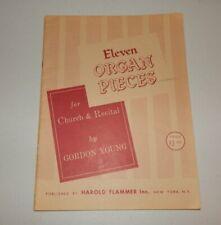 Eleven Organ Pieces for Church & Recital Gordon Young Sheet Music Book 1962 Orig
