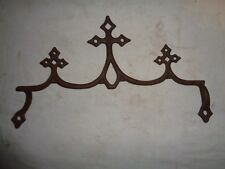 Antique ORNAMENTAL TRIPLE CROSS FENCE RAIL TOP~farm