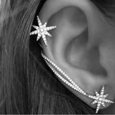 snowflake earrings crystal earrings 1Pair Fashion women earrings personality
