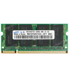 Samsung 4GB PC2-6400S PC6400 DDR2-800Mhz 200-pin SODIMM Laptop Notebook Memory