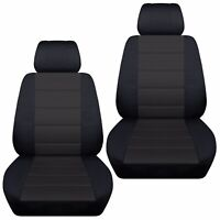 Fits 2006-2012  Subaru Forester  front set car seat covers  black-charcoal