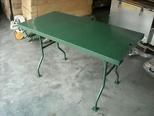 "Military Folding Table 26"" x 53"" x 30"" High Army Green Stainless Steel HMV220"