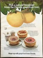 1973 Florida Grapefruit Print Ad Pick a Natural Breakfast Serving Suggestions
