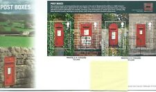 GB - FIRST DAY COVER - FDC - MINI SHEET -2009- POST BOXES - Pmk Wakefield