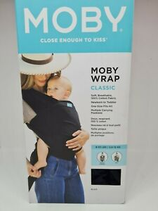 Moby Wrap Baby Classic Carrier Newborns & Infants Gift for Mom & Dad | Black