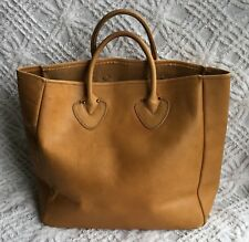 Vintage  LL BEAN Brown Leather Tote Satchel Bag Purse 12 By 6 By 11 Tan Quality