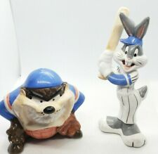 Bugs Bunny And Taz Playing Baseball Salt And Pepper Shaker 1993 Loony Tunes
